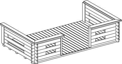 holz gartenhaus ger tehaus blockbohlenhaus 320x265 44mm ebay. Black Bedroom Furniture Sets. Home Design Ideas