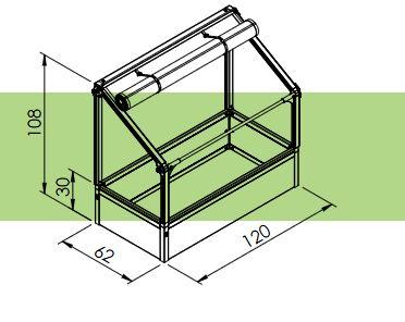 growcamp balkon hochbeet 120x62x108 cm anlehngew chshaus ebay. Black Bedroom Furniture Sets. Home Design Ideas