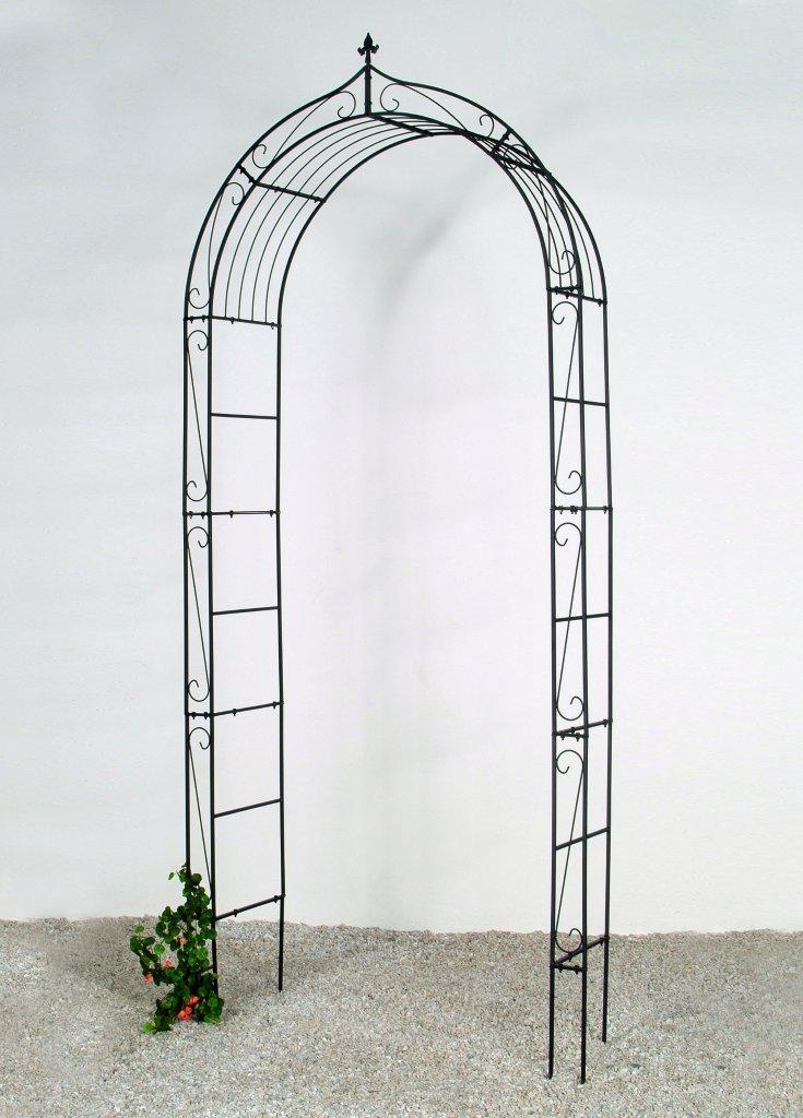 rosenbogen maria laubengang rankhilfe pergola metall b131xt38xh290cm schwarz ebay. Black Bedroom Furniture Sets. Home Design Ideas