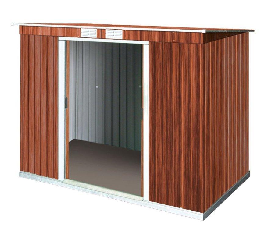 tepro metallger tehaus classic line holzoptik pultdach bxt. Black Bedroom Furniture Sets. Home Design Ideas