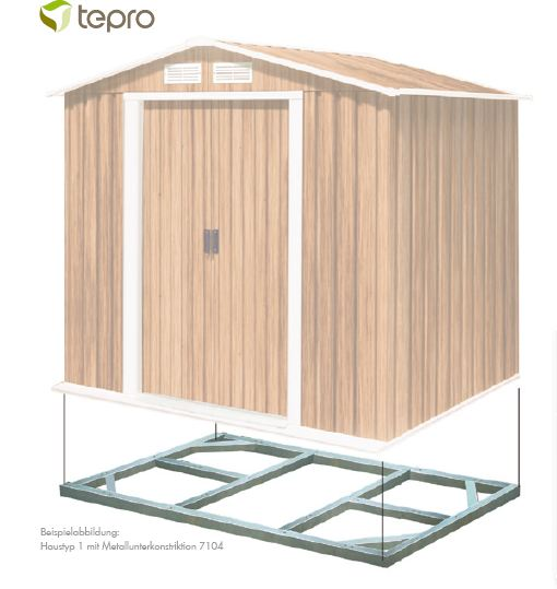 Balkon Unterkonstruktion Aus Metall : Metall-Unterkonstruktion für Tepro Metallgerätehäuser  eBay